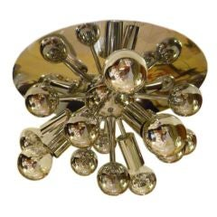 Exciting French Chrome Flush Mount Sputnik Light
