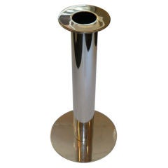 Architectural Italian Modern Chromed Standing Ashtray Ashstand