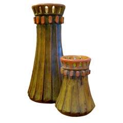 Sculptural Aldo Londi Pottery Vases for Raymor Bitossi
