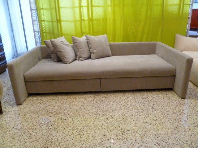 Large Joe D\'urso Lounge Sofa for Knoll at 1stdibs