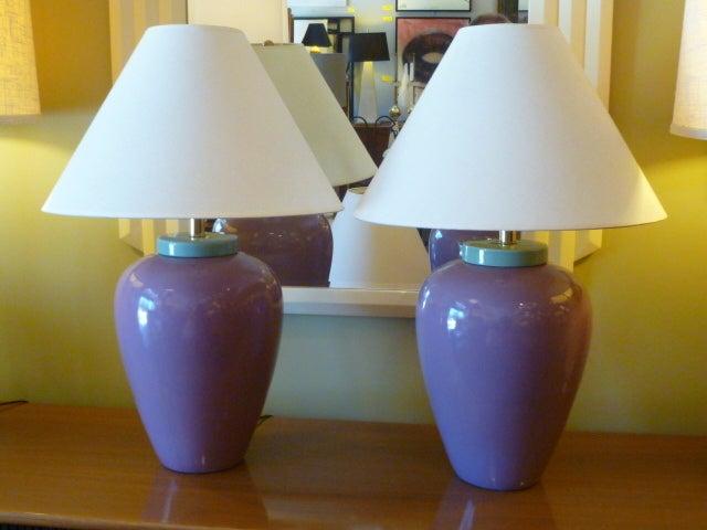 80 S Memphis Era Oil Jar Table Lamps At 1stdibs