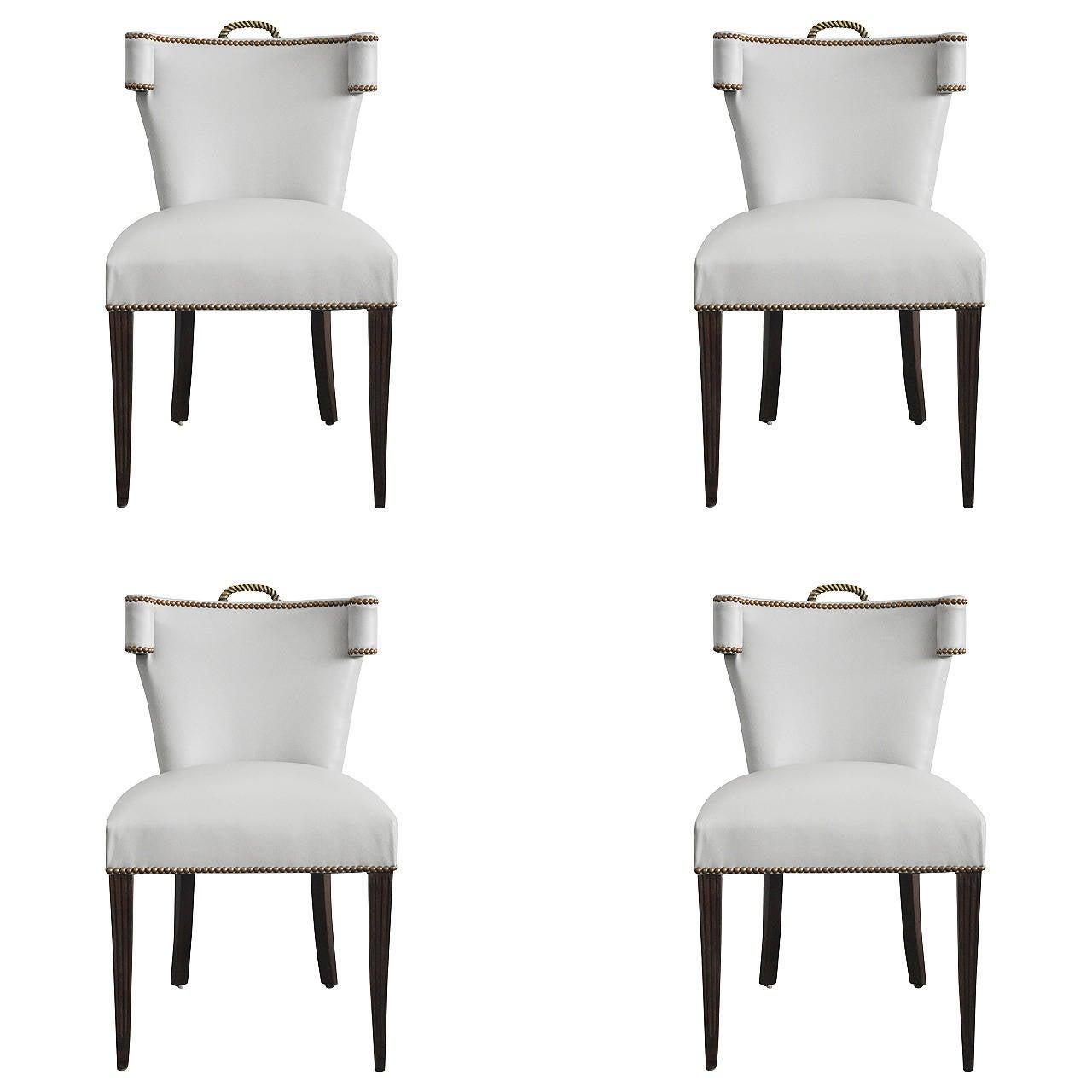 set of four mid century klismos style chairs at 1stdibs