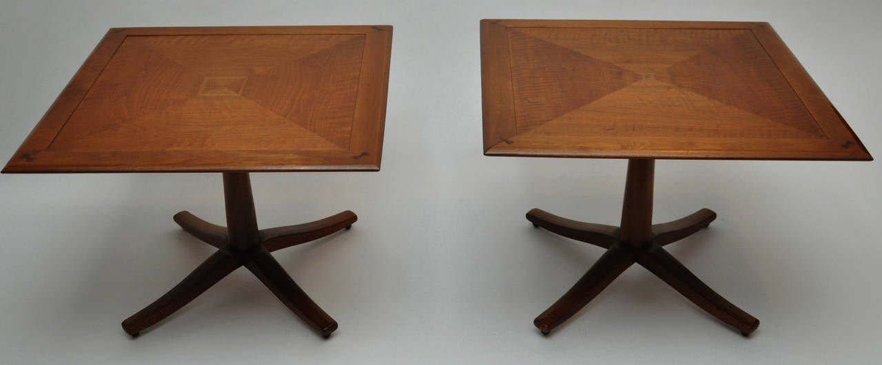 Pair of midcentury occasional tables by drexel heritage - Drexel heritage bedroom furniture for sale ...