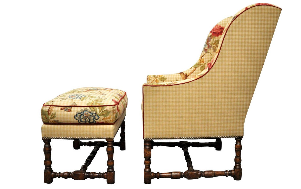 Dennis And Leen Pair Of Chairs With Ottomans At 1stdibs