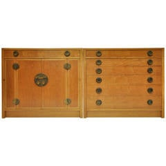 Asian Inspired Chest and Credenza by Dunbar