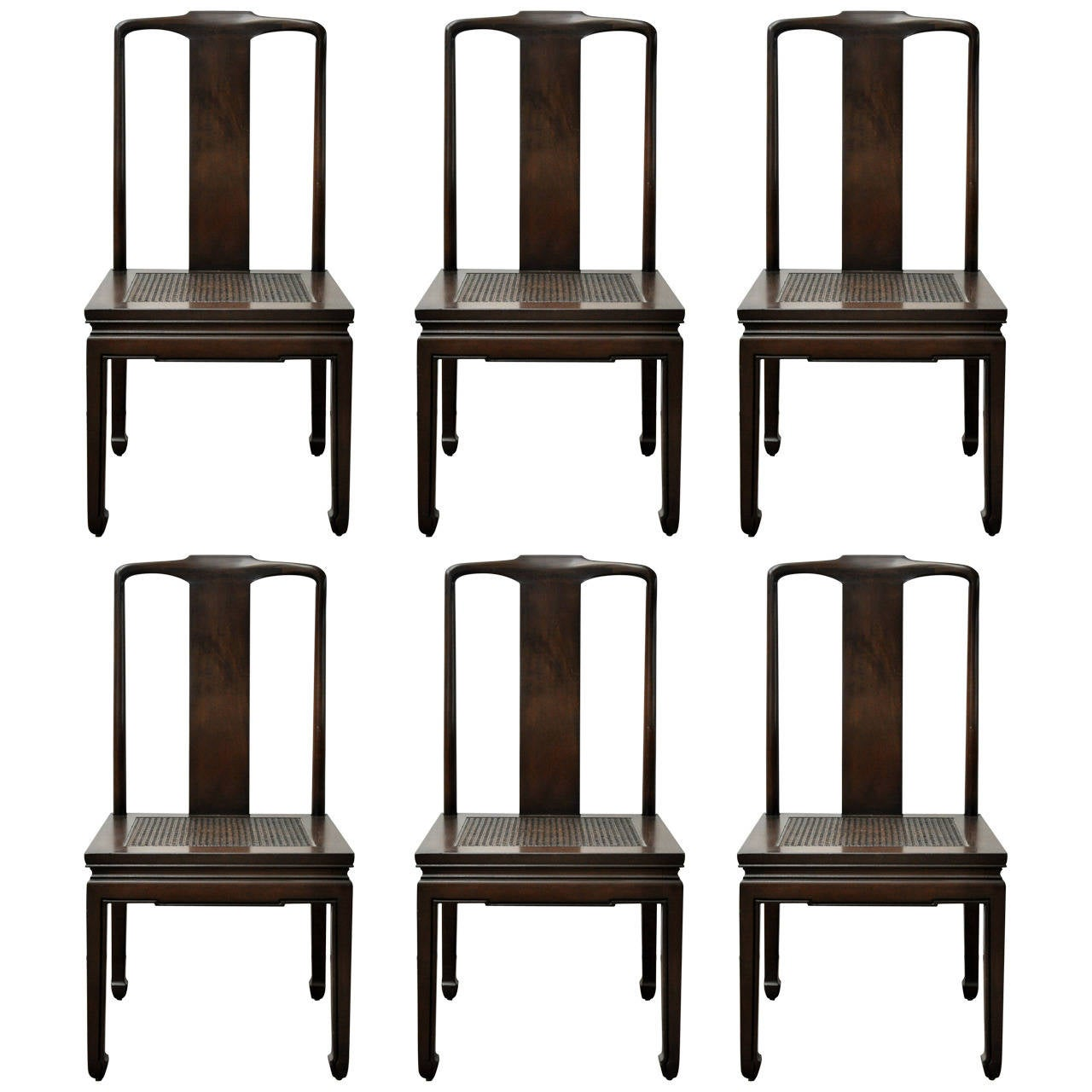 set of six henredon asian dining chairs at 1stdibs