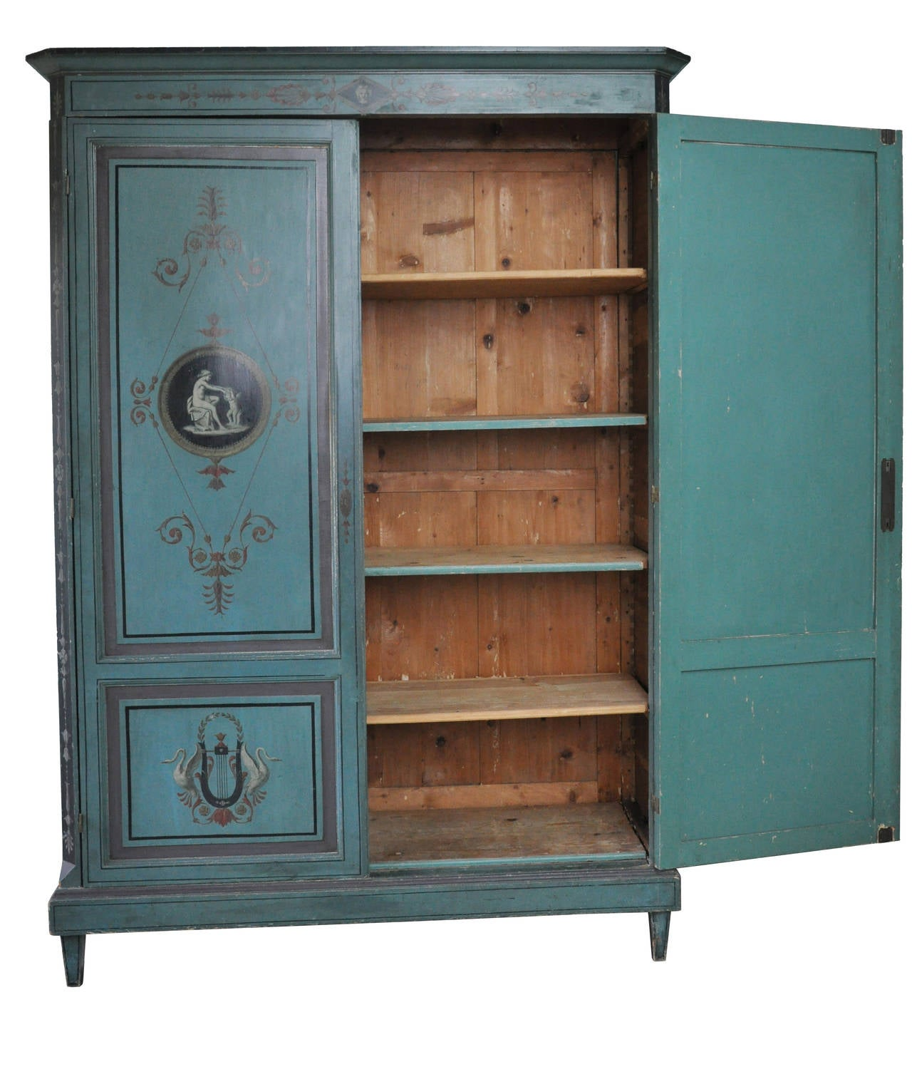 French Painted Directoire Style Armoire at 1stdibs