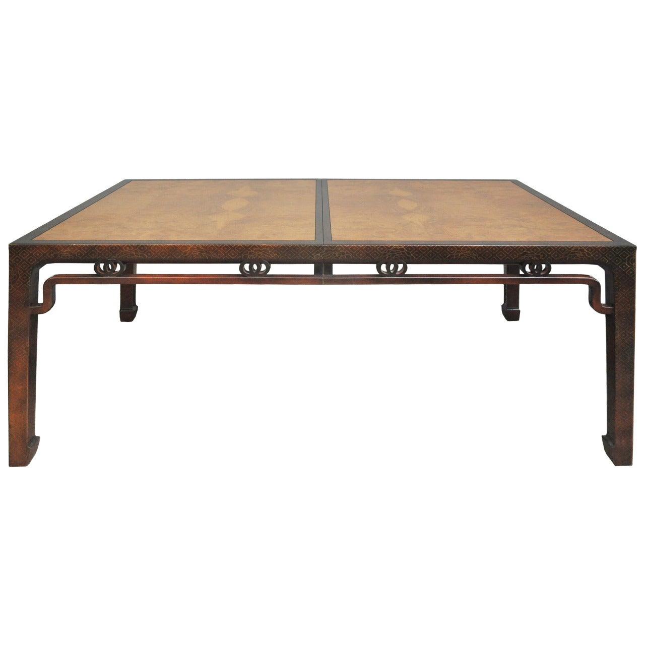 Baker Furniture Chinoiserie Dining Table With Leaves For Sale At 1stdibs