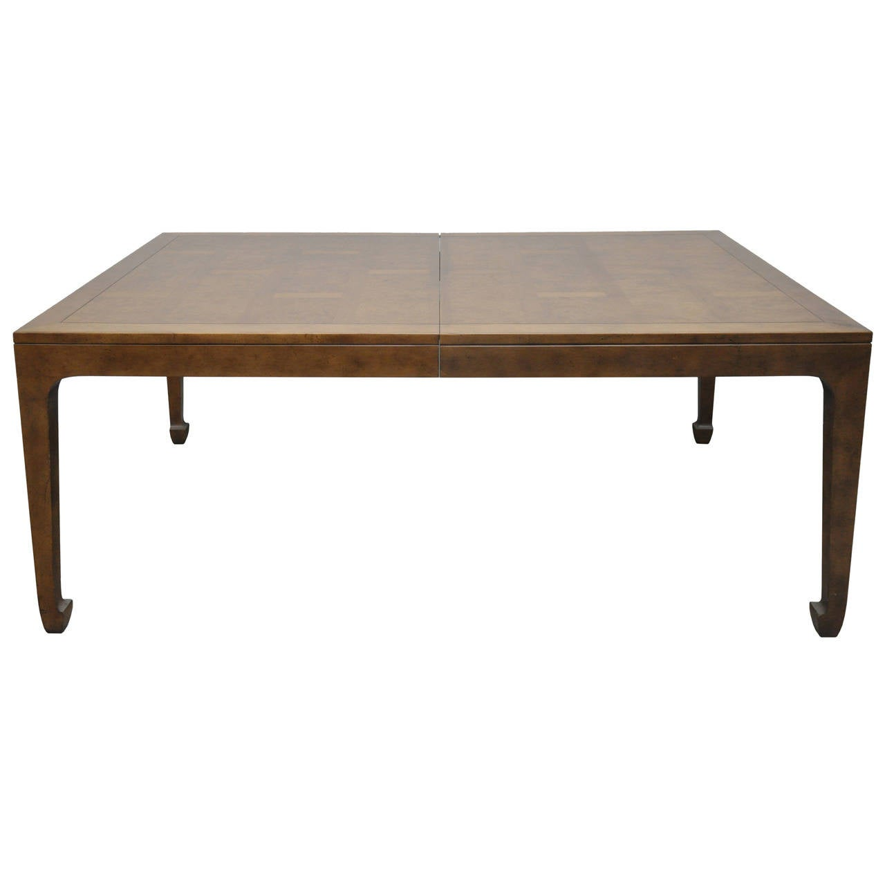 Baker Furniture Asian Style Mid Century Dining Table W 3 Leaves At 1stdibs