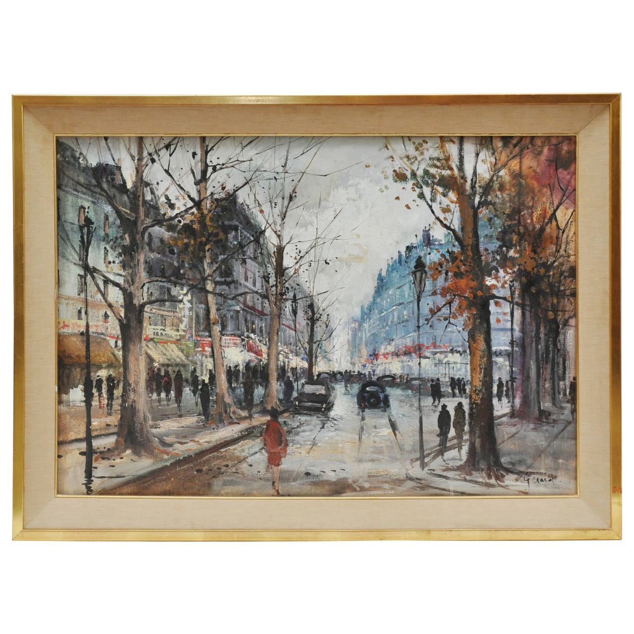 Paris Street Scene Oil Painting At 1stdibs