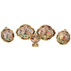 George IV Worcester Porcelain 5 Piece Set by Flight, Barr and Barr