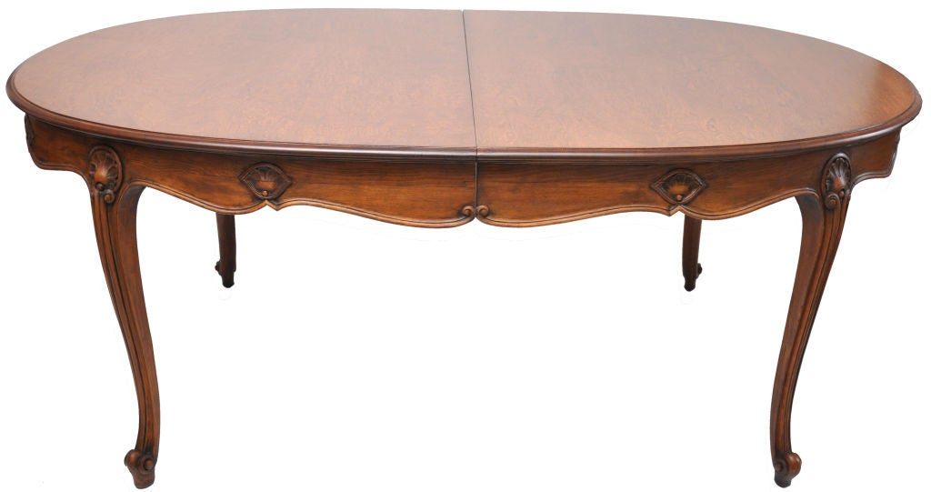 Italian Fruitwood Oval Dining Table With 2 Leaves at 1stdibs : 830212762785932 from 1stdibs.com size 1024 x 541 jpeg 41kB