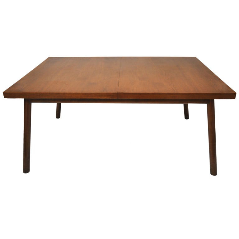 Restored t h robsjohn gibbings dining table with two for 8ft dining room table