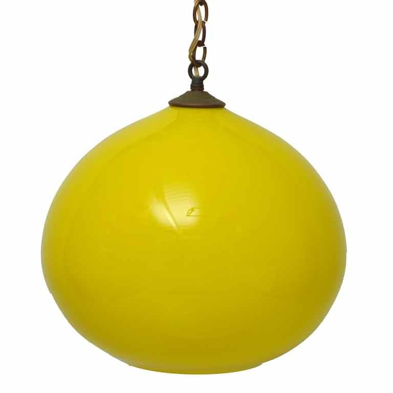 yellow murano glass pendant light at 1stdibs. Black Bedroom Furniture Sets. Home Design Ideas