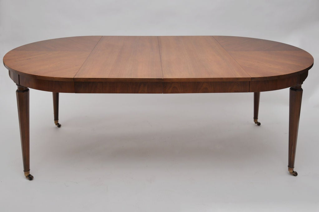 Round Cherry Dining Table By Kindel With Three Leaves at  : 830212979595893 from www.1stdibs.com size 1023 x 680 jpeg 35kB