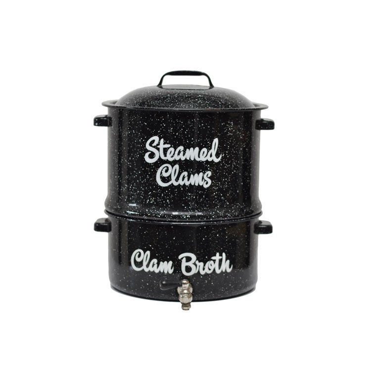 Vintage Clam Steamer In Granite Ware At 1stdibs