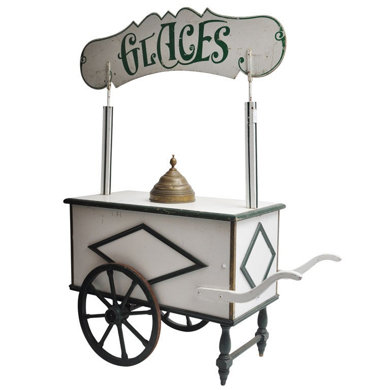 French Glace Cart Parisian Ice Cream Cart At 1stdibs
