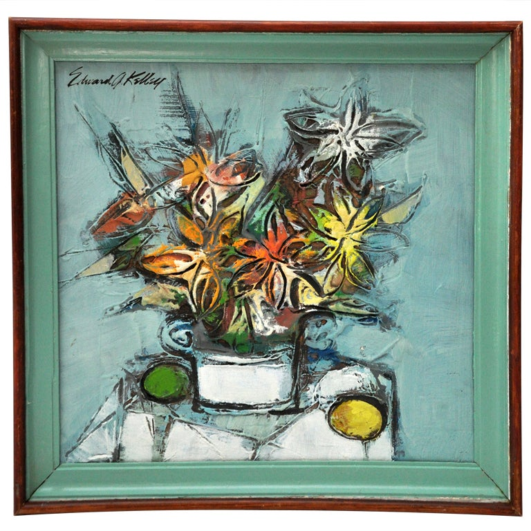 Still Life Painting By Edward G. Kelley 1