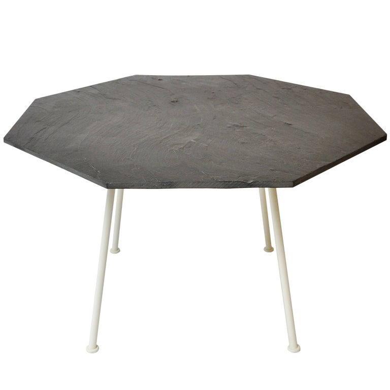 Slate Dining Room Table: Woodard Table With Slate Top At 1stdibs