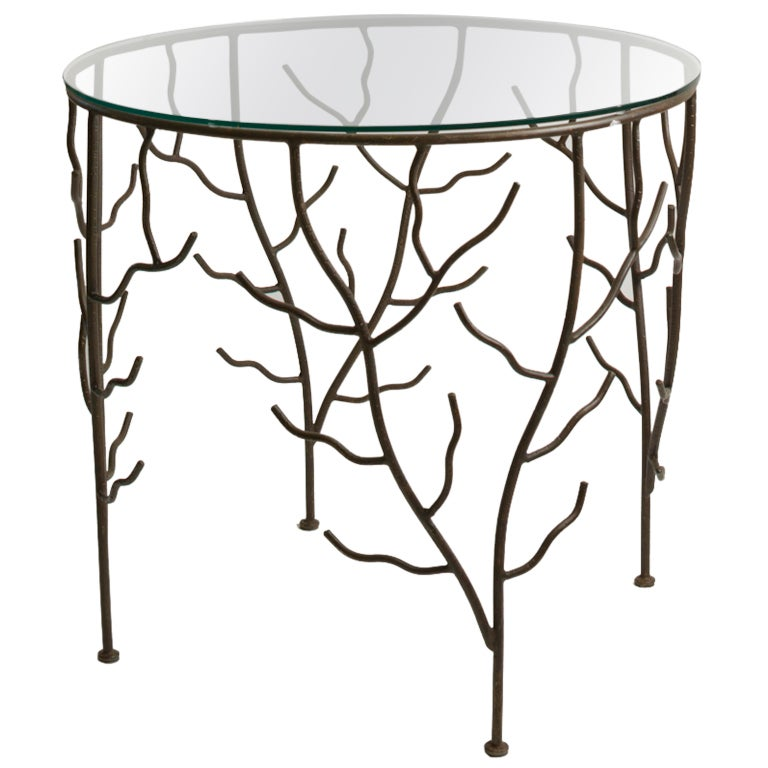 French branch side table at 1stdibs for Table 52 oak brook