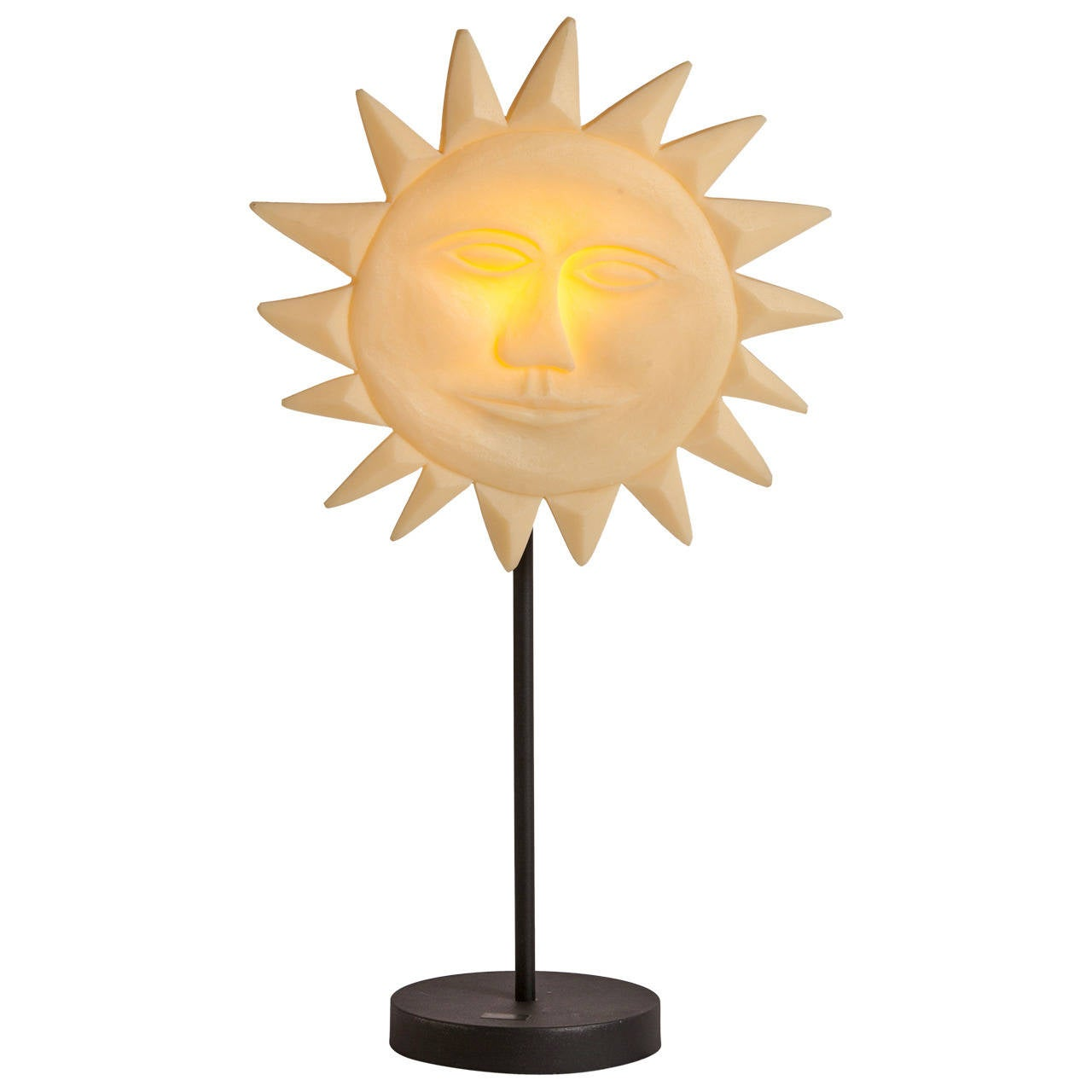 Resin Quot Sun Quot Lamp At 1stdibs