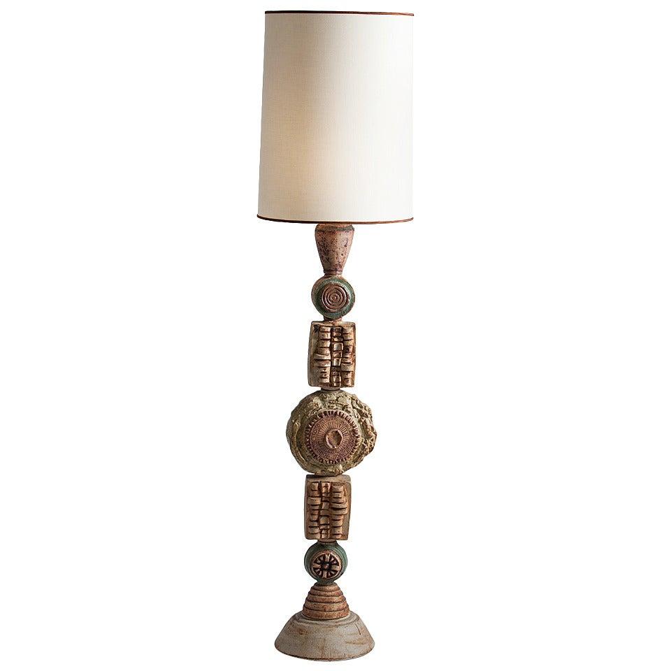 Bernard Rooke Ceramic Floor Lamp For Sale - Bernard Rooke Ceramic Floor Lamp For Sale At 1stdibs