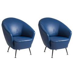 Pair of Gio Ponti or Ico Parisi Style Chairs