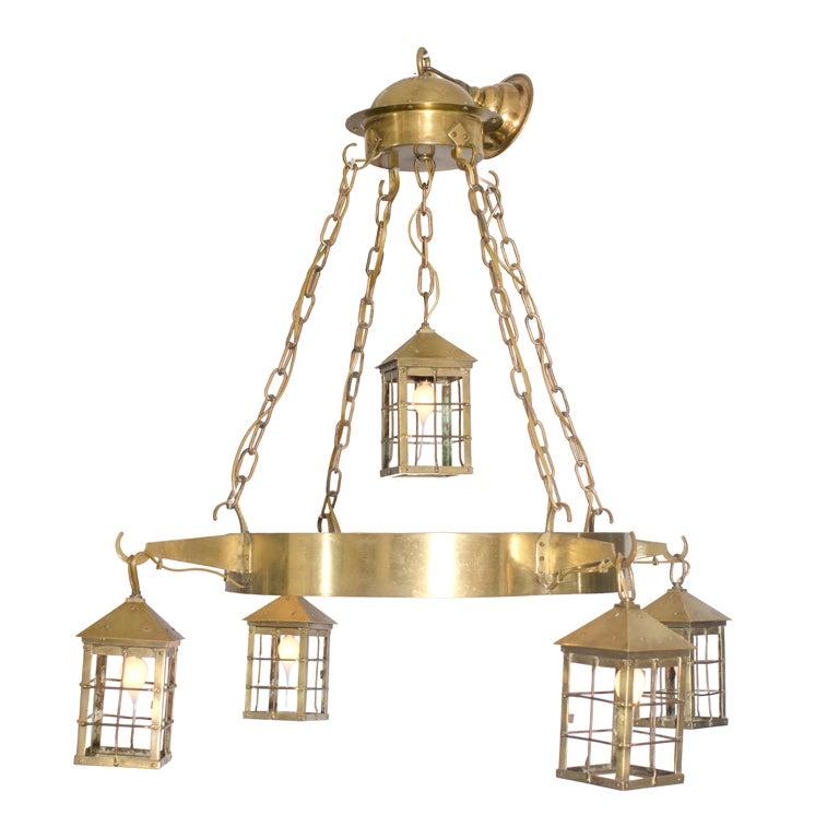 Bronze Lantern Chandelier