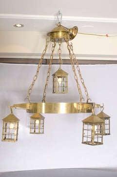 Bronze Lantern Chandelier image 2