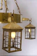 Bronze Lantern Chandelier image 4
