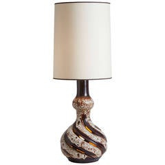 French Ceramic Table Lamp from Vallauris
