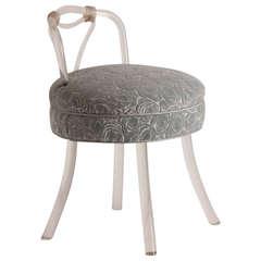 Vintage Lucite Vanity Chair