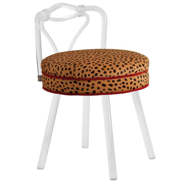Vintage lucite vanity stool at 1stdibs