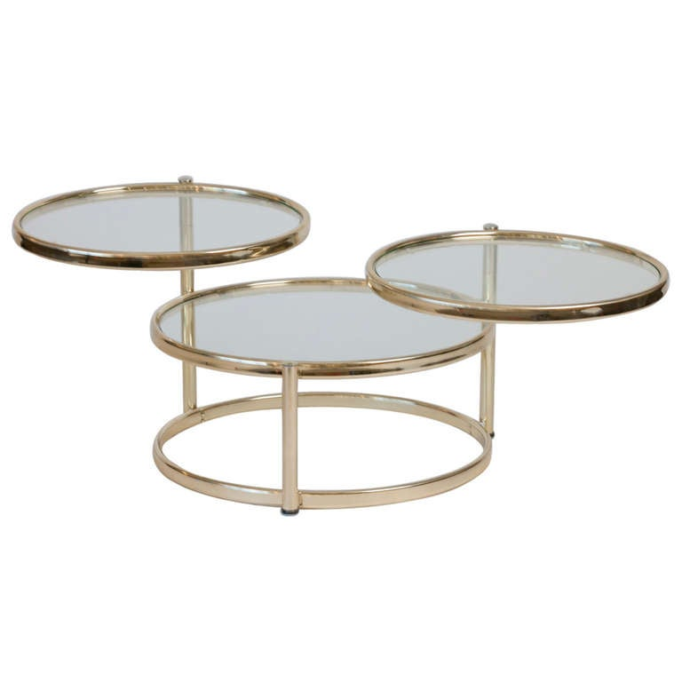 Milo Baughman Style Adjustable Cocktail Table At 1stdibs