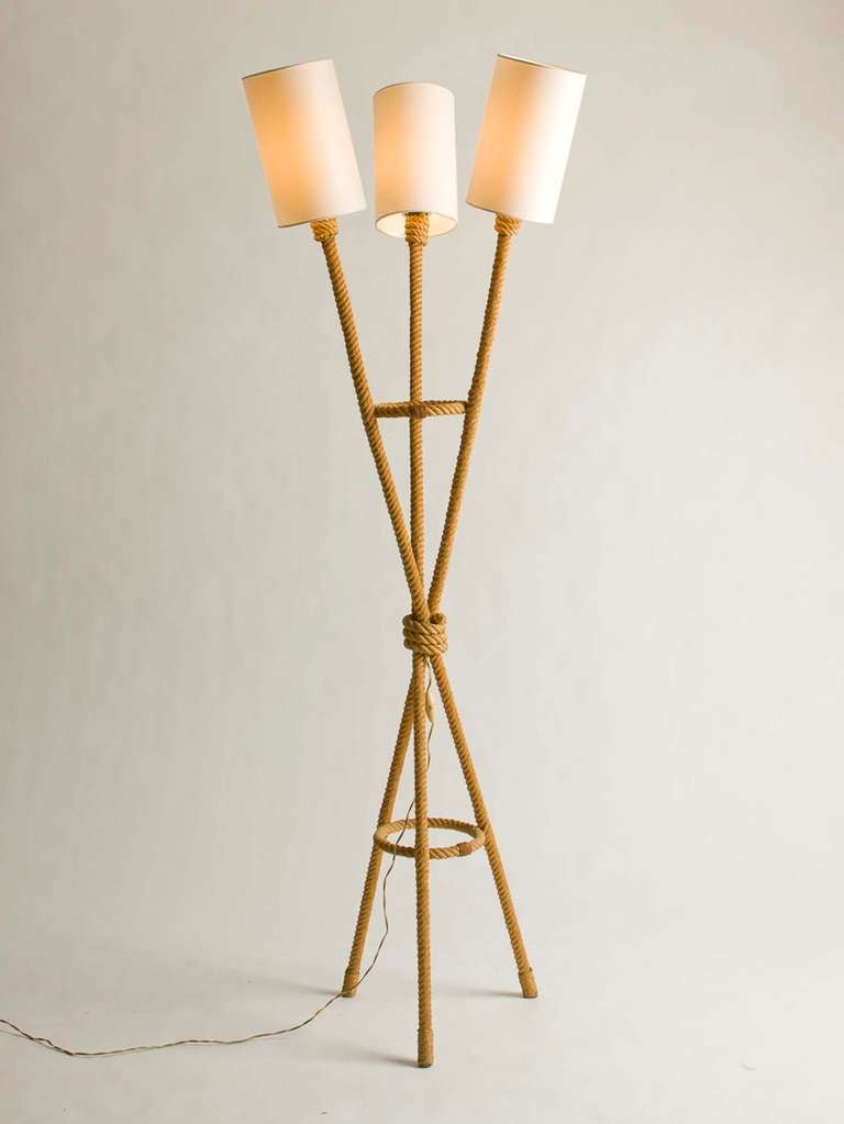 this vintage french three arm rope floor lamp is no longer available. Black Bedroom Furniture Sets. Home Design Ideas