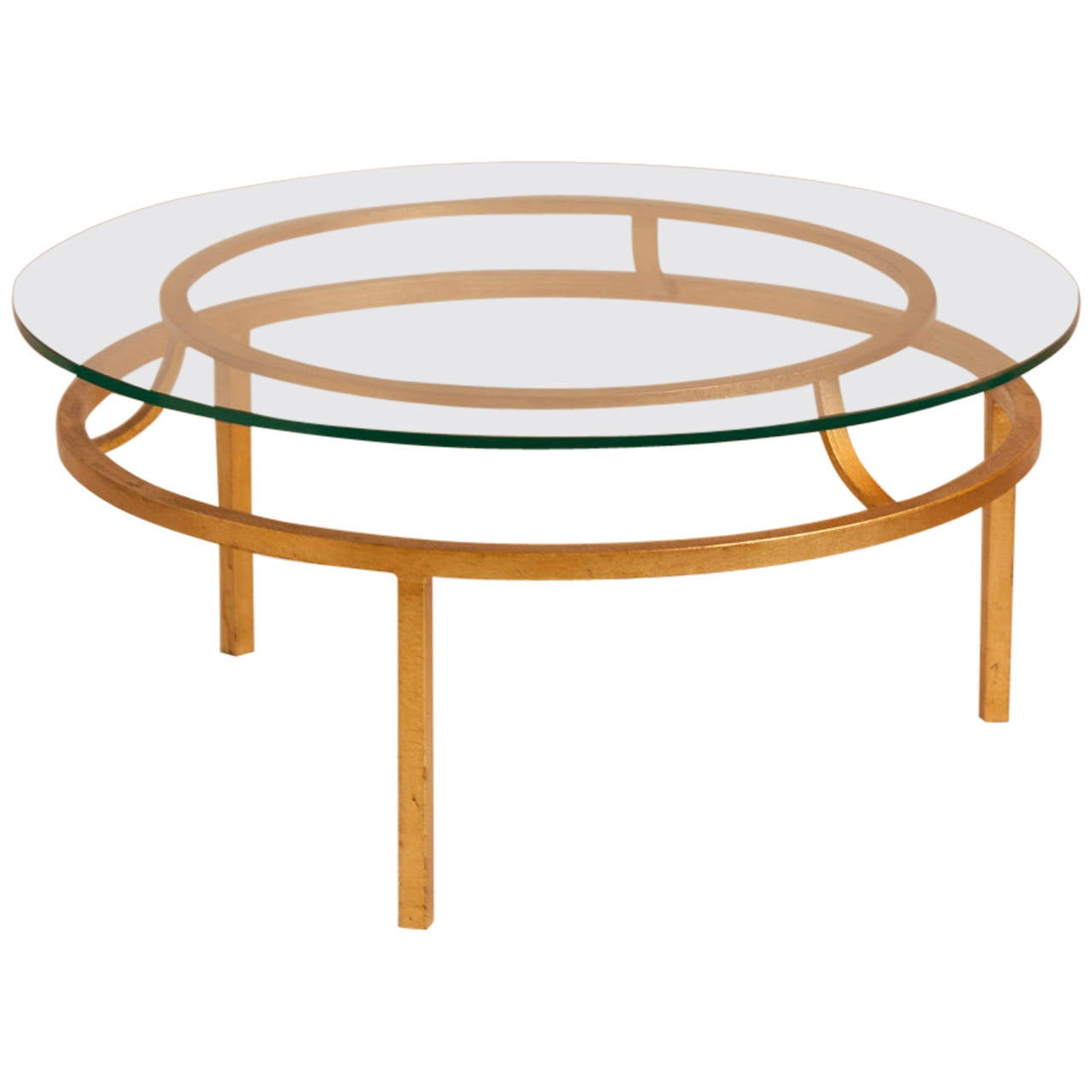 Gilt Cocktail Table Attributed To Roger Thibier For Sale At 1stdibs