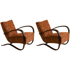 "Pair of Jindrich Halabala ""H269"" Chairs"