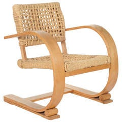 Bentwood Arm Chair By Audoux Minet