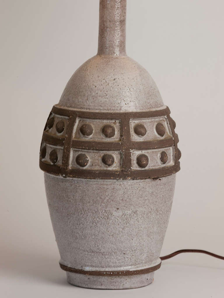 Vintage French Ceramic Table Lamp In Excellent Condition For Sale In Aspen, CO
