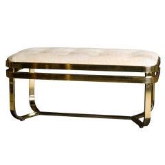 Architectural Rectangular Brass Bench