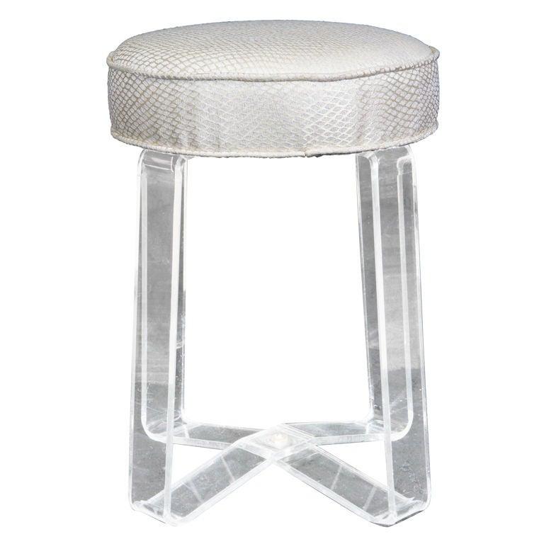 Lucite vanity stool at 1stdibs - Acrylic vanity chair ...