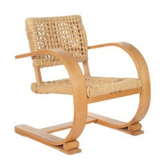 French Audoux-Minet Bentwood Vibo Arm Chair