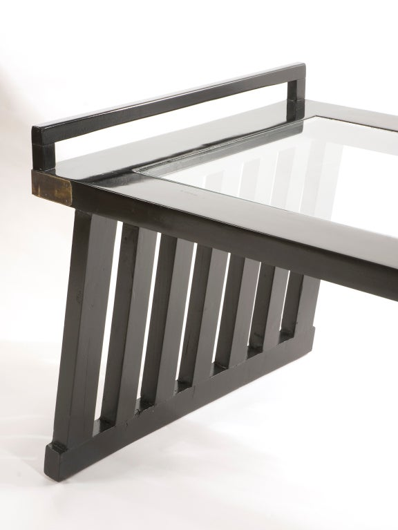 Black Lacquer Coffee Table At 1stdibs