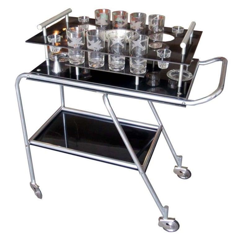 American Art Deco Dc 3 Aero Art Bar Cart For Frantz