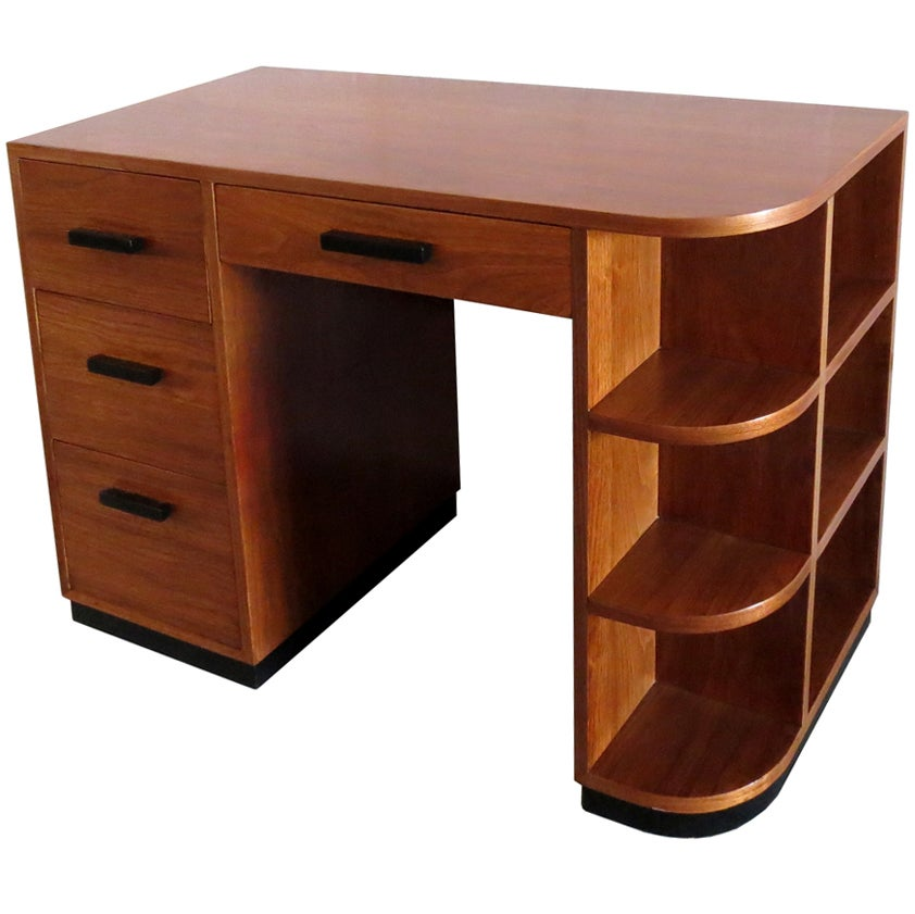 American Art Deco Desk By Modernage New York At 1stdibs