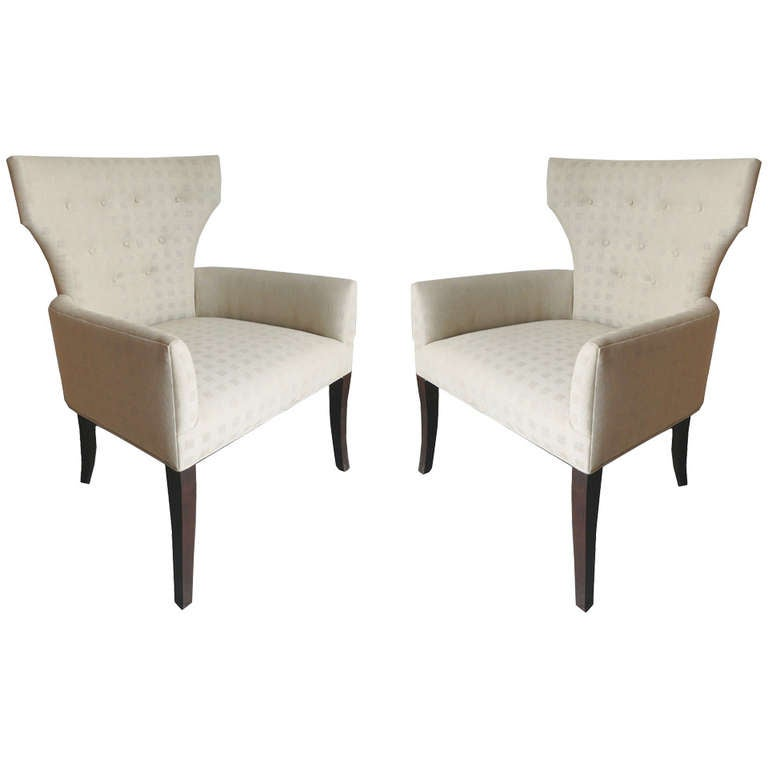 pair of modern armchairs attributed to roche bobois at 1stdibs