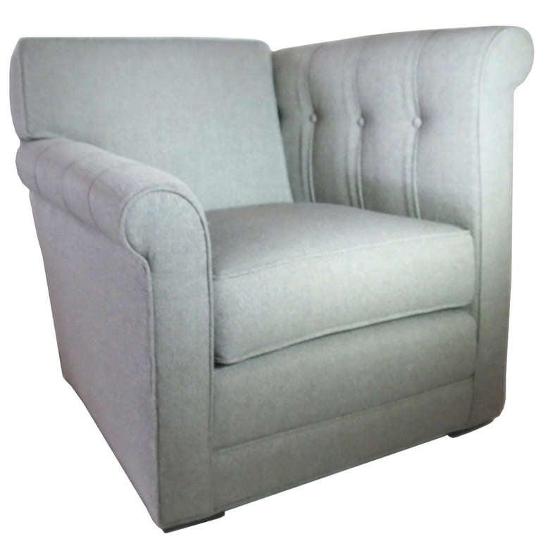 American Art Deco Modernage Asymmetrical Chair at 1stdibs