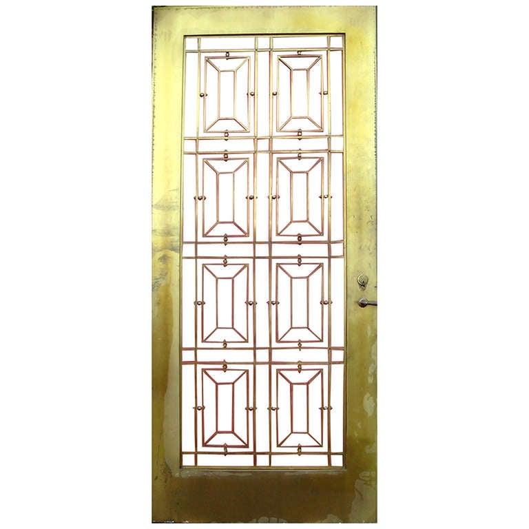 A Very Elegant Bronze Art Deco Double Door At 1stdibs