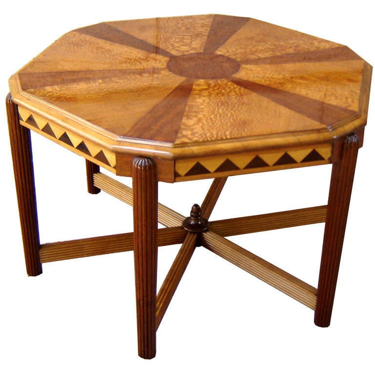 American Art Deco Hexagon Coffee Table At 1stdibs