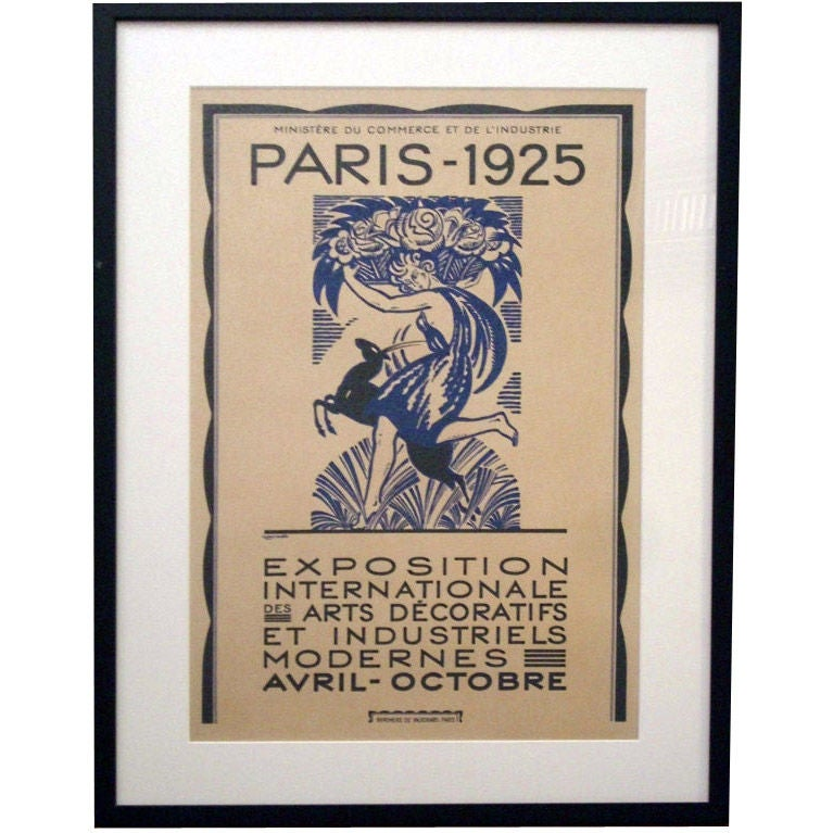Important 1925 Paris Exposition Art Deco Poster Collection At 1stdibs